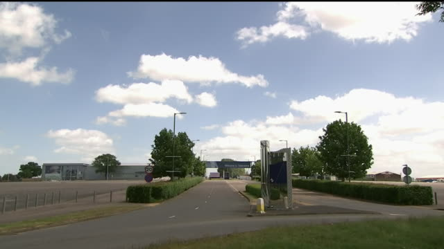 exterior wide shot of the road leading to the silverstone race circuit entrance in silverstone, northamptonshire. this footage was taken on the 22nd... - silverstone stock videos & royalty-free footage