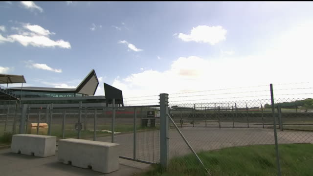 exterior wide shots of closed gates outside the silverstone circuit in silverstone, northampthonshire. the footage includes shots of the podium and... - formula one racing stock videos & royalty-free footage