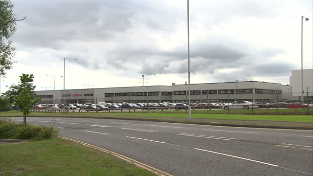 Exterior wide shots of Cranfield Nissan manufacturing plant on July 28 2016 in Sunderland England
