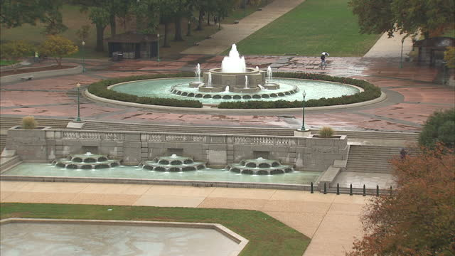exterior wide shots of the fountain in senate park and the us capitol building on november 9 2016 in washington dc united states - leal senado square stock videos and b-roll footage