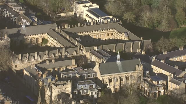 exteriors aerials of oxford university on 17 january 2019 in oxford, united kingdom. - oxford university stock videos & royalty-free footage