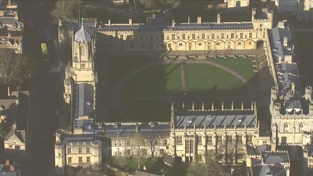 exteriors aerials of oxford university on 17 january 2019 in oxford united kingdom - oxford university stock videos & royalty-free footage