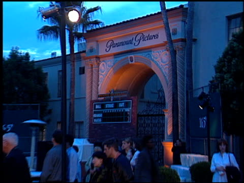 exteriors at the 'hardball' premiere at paramount studios in hollywood california on september 14 2001 - paramount studios stock videos and b-roll footage