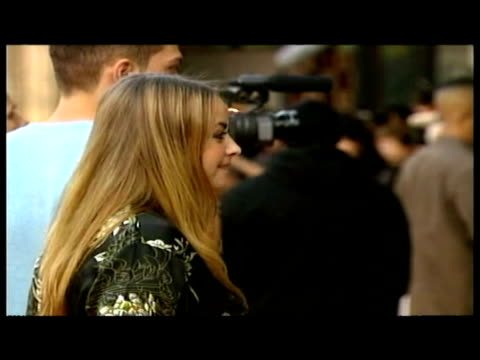 exteriors charlotte church & boyfriend steven johnson pose on red carpet. - boyfriend stock videos & royalty-free footage