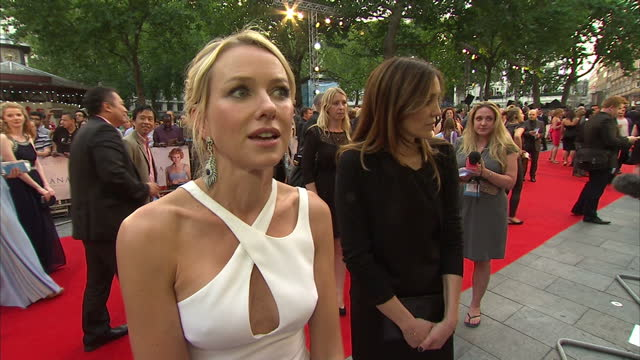 exteriors interview Naomi Watts actress about taking the role of Diana London premiere Diana movie at Odeon Leicester Square on September 05 2013 in...
