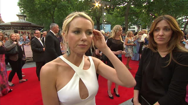 exteriors interview naomi watts what the princes may think grab london premiere diana movie at odeon leicester square on september 05 2013 in london... - media interview stock videos and b-roll footage