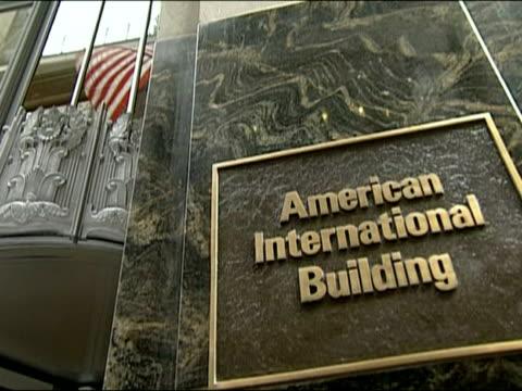 exteriors of aig headquarters / manhattan new york - アナモルフィック点の映像素材/bロール
