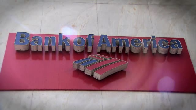 ktla exteriors of bank of america - bank of america stock videos & royalty-free footage