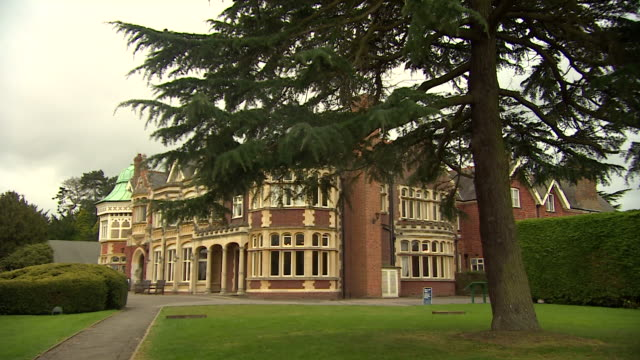 exteriors of bletchley park mansion and the huts - shack stock videos & royalty-free footage