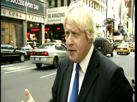 exteriors of boris johnson london mayor talking about lehman brothers collapse and how it changed the banking industry archive banking shots on... - collapsing stock videos and b-roll footage