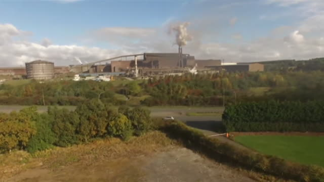 exteriors of british steel plant in scunthorpe bought out by chinese producer jingye - metal industry stock videos & royalty-free footage