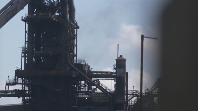 exteriors of british steel plant in scunthorpe in relation to the story of british steel being placed into compulsory liquidation - liquidation stock videos and b-roll footage