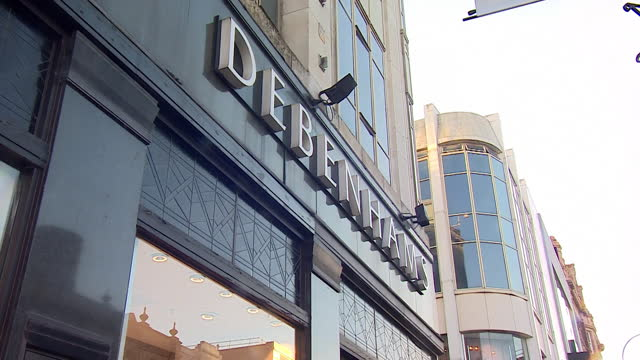 exteriors of debenhams department stores around the uk as the business goes into administration - clothes shop stock videos & royalty-free footage