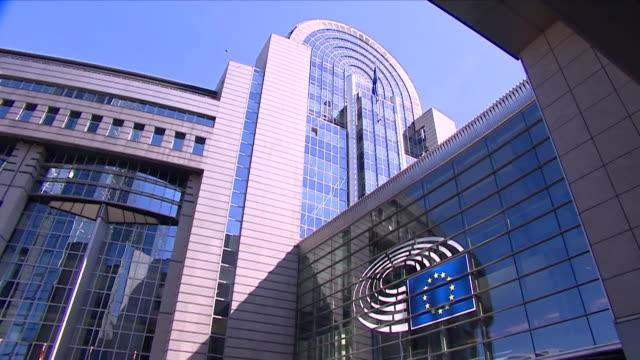 Exteriors of EU Parliament Brussels