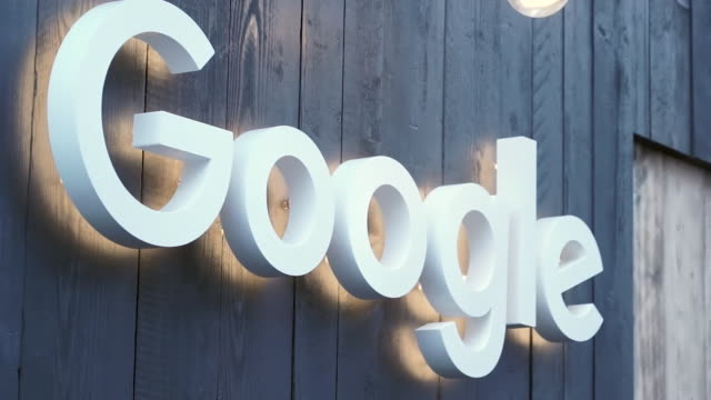 """exteriors of google offices at the world economic forum annual meeting 2020 in davos switzerland - """"bbc news"""" stock-videos und b-roll-filmmaterial"""