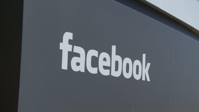 stockvideo's en b-roll-footage met exteriors of headquarters facebook goes public on may 19 2012 in menlo park california - hoofdkantoor