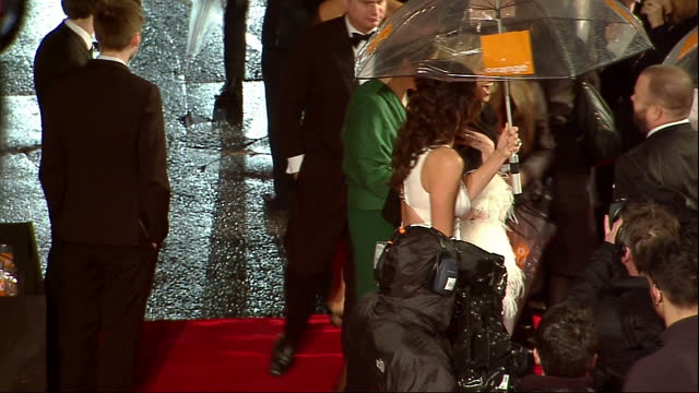 exteriors of minnie driver on red carpet at orange bafta awards minnie driver on red carpet on february 13 2011 in london england - minnie driver stock videos and b-roll footage