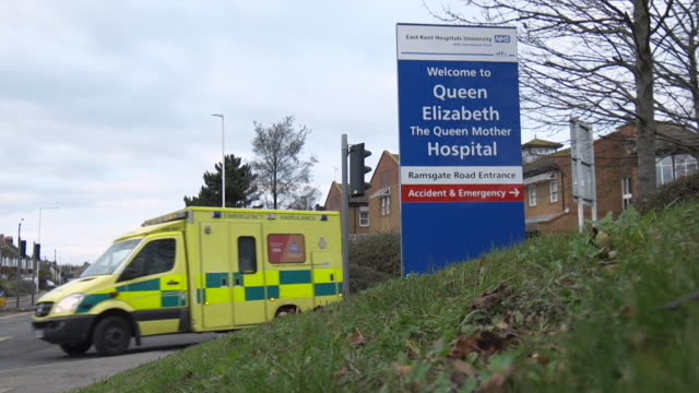 exteriors of queen elizabeth hospital maternity unit run by the east kent nhs trust connected to a story about preventable deaths of babies - kent england stock videos & royalty-free footage