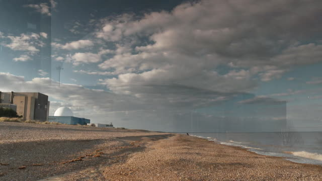 exteriors of sizewell b nuclear power station in suffolk that is continuing to supply electricity to uk homes during the coronavirus lockdown - power station stock videos & royalty-free footage