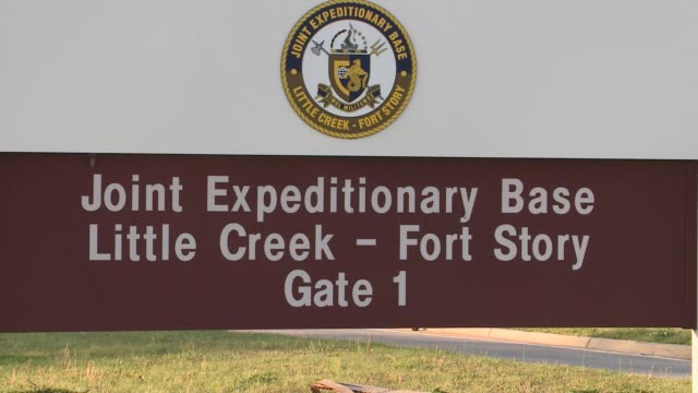 exteriors of the military base - virginia beach stock videos & royalty-free footage