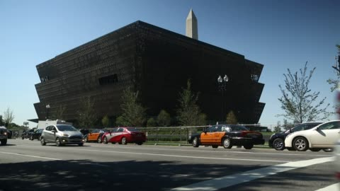 exteriors of the new smithsonian's museum of african american history and culture in washington, dc on september 23 shots: several similar wide... - smithsonian institution stock videos & royalty-free footage