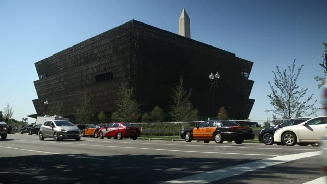 exteriors of the new smithsonian's museum of african american history and culture in washington dc on september 23 shots several similar wide... - smithsonian institution stock videos & royalty-free footage