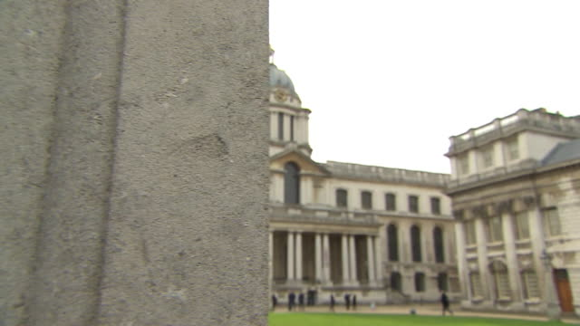 exteriors old royal naval college, greenwich - royal navy college greenwich stock videos & royalty-free footage