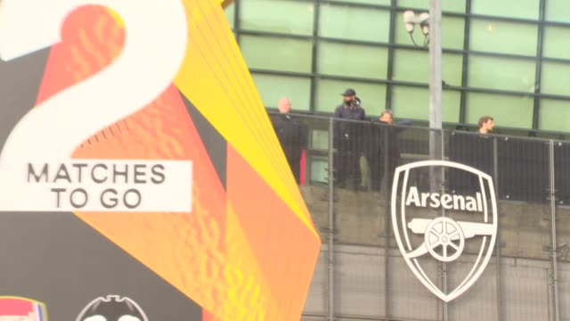 Exteriors outside Arsenals football club Emirates Stadium as they host Valencia in the Europa League