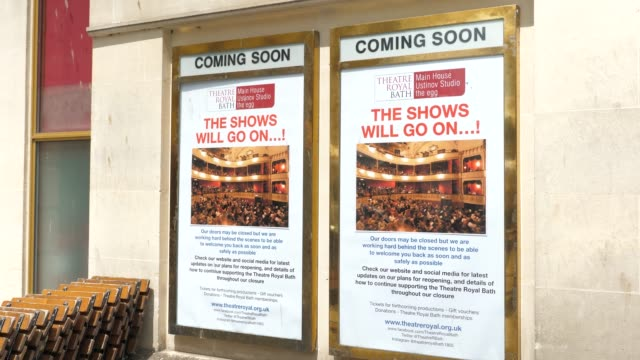 exteriors shots of the bath theater royal uk closed due to coronavirus - performing arts event stock videos & royalty-free footage