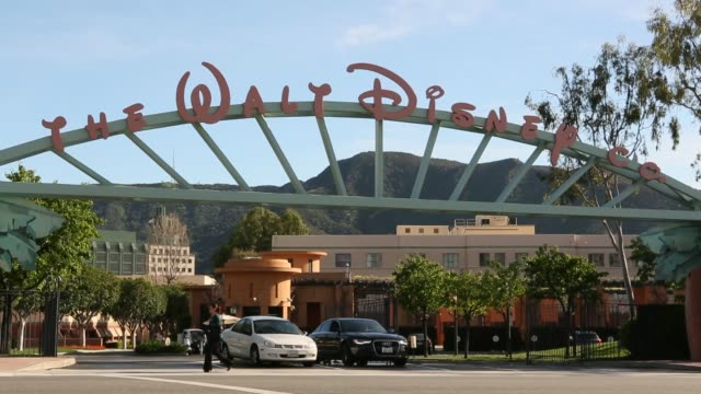 Exteriors signage Walt Disney Company Headquarters at Walt Disney St on March 14 2013 in Burbank California