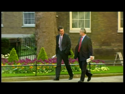 exteriors var british banking ceos arrive at 10 downing street including; antonio horta-osorio , andy hornby & chris rhodes . - var stock videos & royalty-free footage