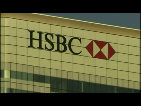 vidéos et rushes de exteriors var of the hsbc tower, hsbc group head office - var