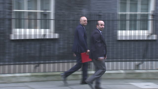Exteriror shots of Sajiid Javid MP walking from Number 10 Downing Street after a Brexit cabinet meeting on 19 December 2017 in London United Kingdom