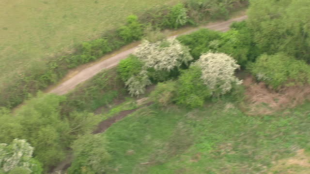 external aerial shots of the dried up river colne with little to no water left and a dried path in its wake on the 8th may 2017 in herefordshire,... - herefordshire bildbanksvideor och videomaterial från bakom kulisserna