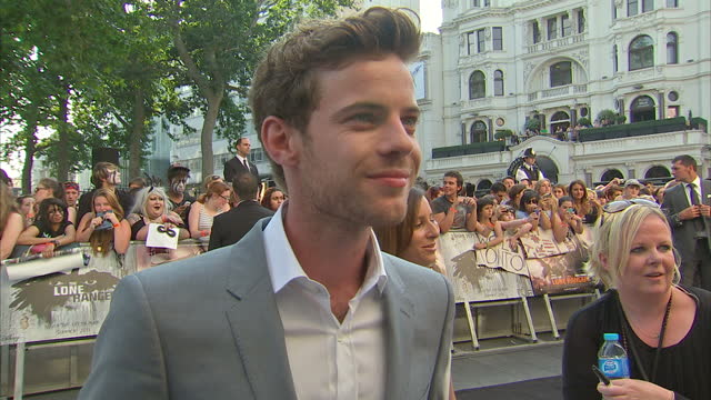 external interview with harry treadaway about playing the character frank in 'the lone ranger' lone ranger film premiere in london on july 21 2013 in... - the lone ranger 2013 film stock videos and b-roll footage