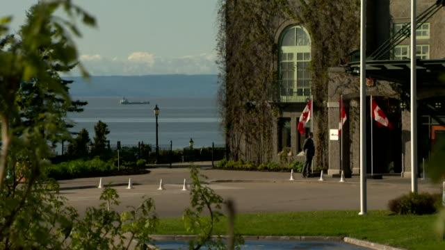 External shots of Manoir Richelieu in Quebec during the G7 summit