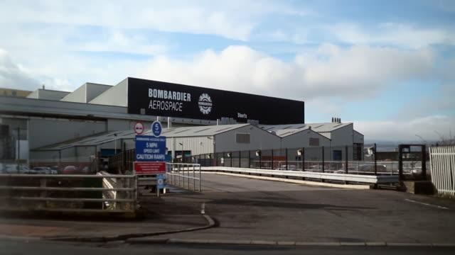 External shots of the Bombardier factory in Belfast
