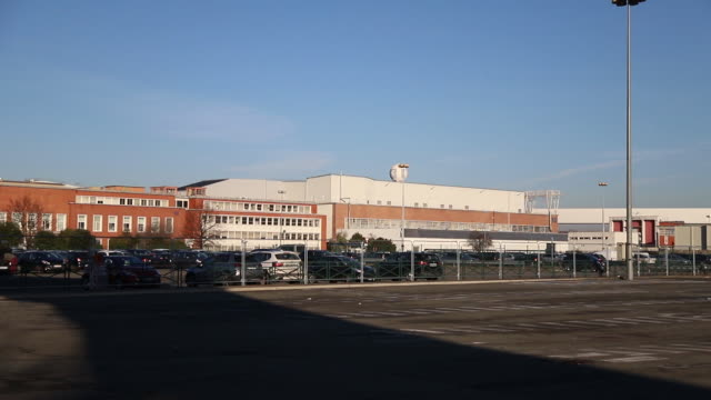 external views of psa poissy plant and activity around in poissy îledefrance france on monday january 6 2020 - île de france stock-videos und b-roll-filmmaterial