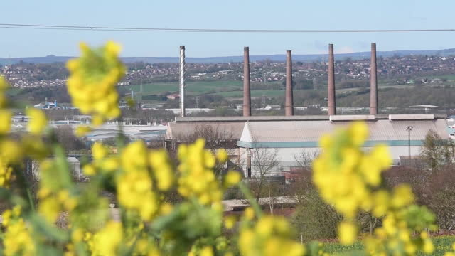 external views of the liberty steel plants and town buildings, stockbridge and rotherham, uk on tuesday, april 6, 2021. - metal industry stock videos & royalty-free footage