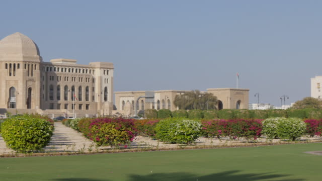 external views of the supreme court, muscat, oman, middle east, asia - courthouse stock videos & royalty-free footage