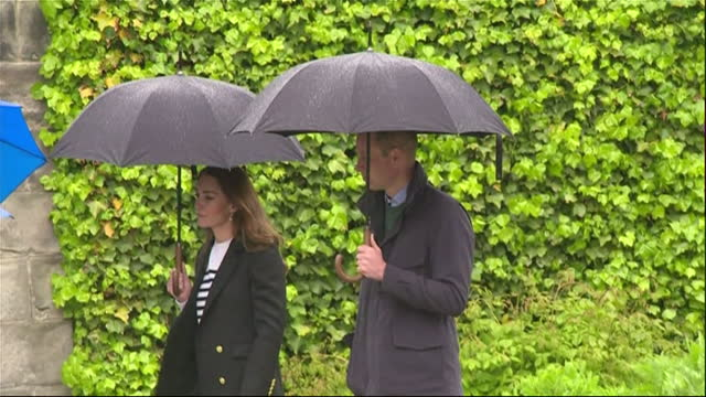 exteror shots of the duke and duchess of cambridge speaking with students during their visit to the university of st andrews on 27th may 2021, united... - dance studio stock videos & royalty-free footage