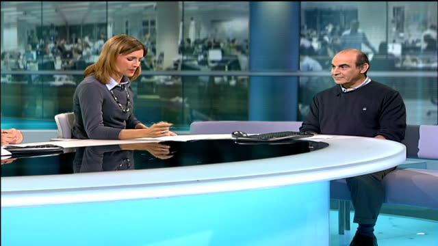 Wildlife campaigners warning ENGLAND London GIR INT David Suchet LIVE STUDIO interview SOT I got involved in the WWF campaign because I was asked to...