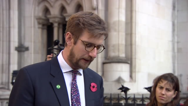 """extinction rebellion lawyer tobias garnett saying activists feel """"vindicated"""" after a blanket ban on protests in london by the metropolitan police... - lawyer stock videos & royalty-free footage"""