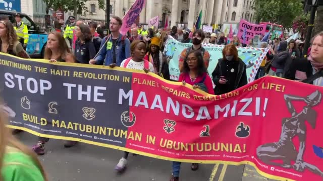 extinction rebellion members march in the streets on august 23, 2021 in london, england. the group is gearing up for another two full weeks of... - road stock videos & royalty-free footage