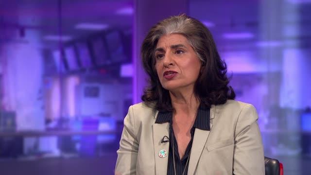 Travel disruption / activists target Jeremy Corbyn's house ENGLAND London GIR INT Farhana Yamin LIVE STUDIO interview SOT