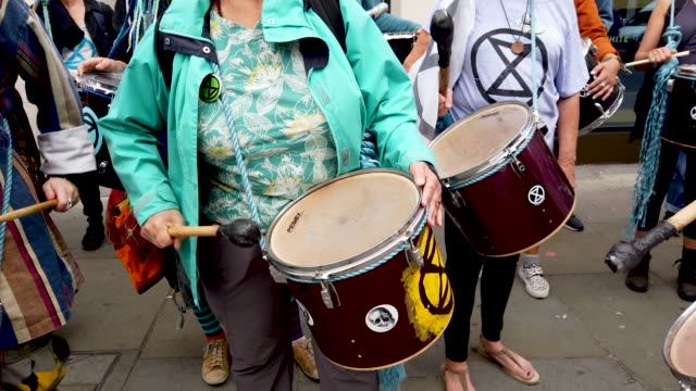extinction rebellion protesters block traffic on the strand as the environmental protest group begin a series of planned weeklong protests... - social movement stock videos and b-roll footage