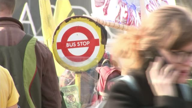 extinction rebellion protesters glue themselves to the stock exchange ahead of planned end of demonstrations england london oxford circus ext... - pink stock videos & royalty-free footage