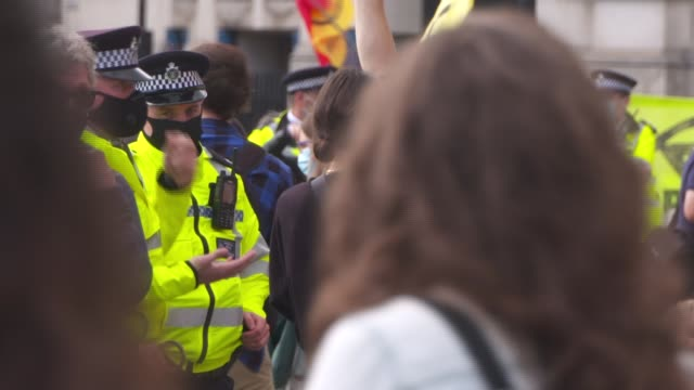 extinction rebellion protests in central london england london westminster parliament square ext extinction rebellion protesters in parliament square... - endangered species stock videos & royalty-free footage