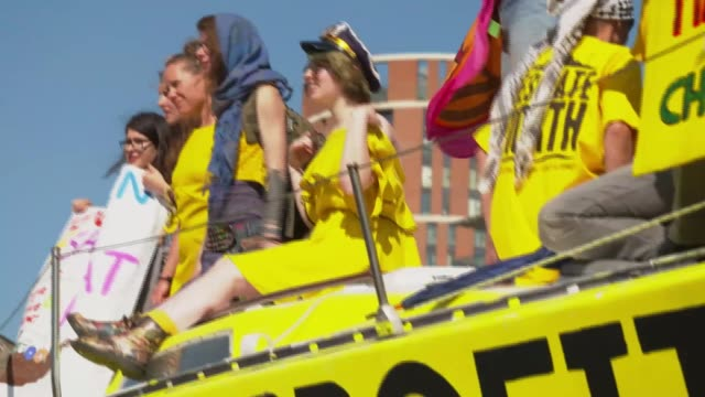 extinction rebellion 'summer uprising' in leeds england yorkshire leeds ext various of environmental protesters from the group extinction rebellion... - sign stock videos & royalty-free footage