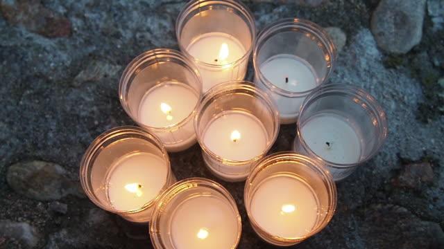 extinguishing candle. spain, segovia - segovia stock videos & royalty-free footage